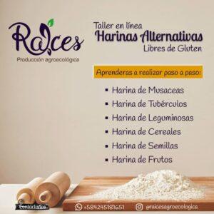 Taller online: Producción artesanal de harinas alternativas