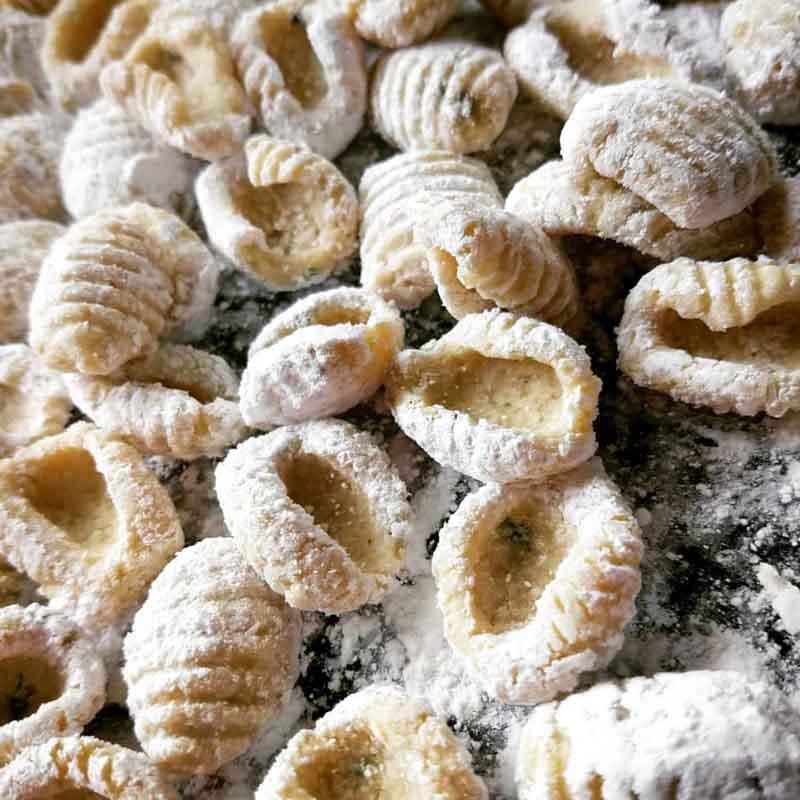 Taller de pastas con harinas y purés diferentes. Ñoquis