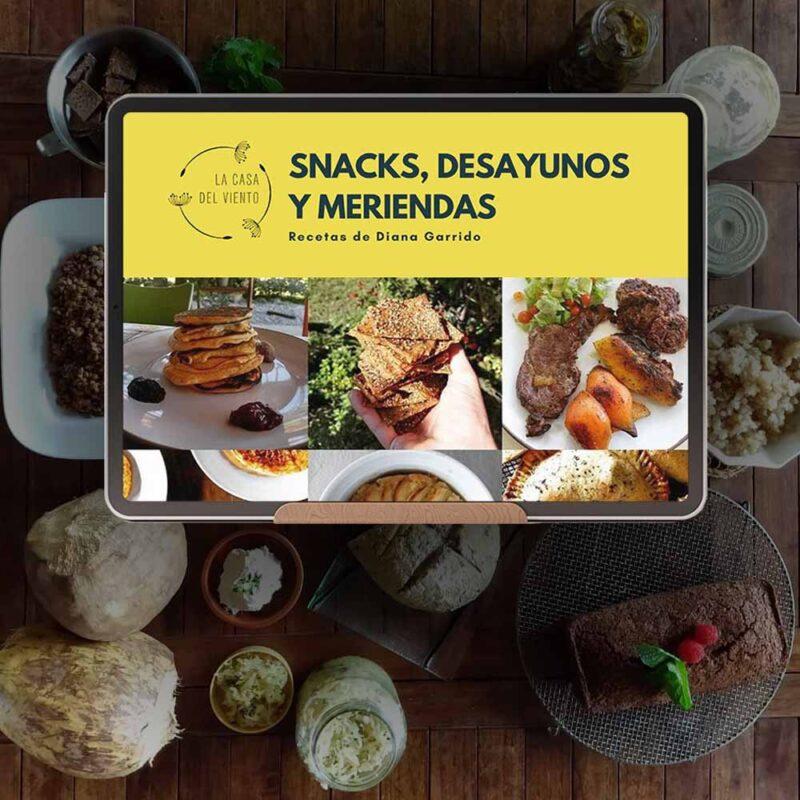 eBook: Snacks, Desayunos Y Meriendas. Recetas de Diana Garrido