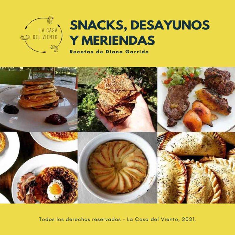 Portada del eBook: Snacks, Desayunos Y Meriendas. Recetas de Diana Garrido