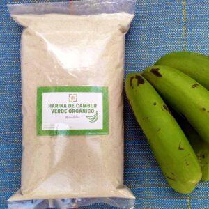 Harina de cambur verde agroecológico. Merendables