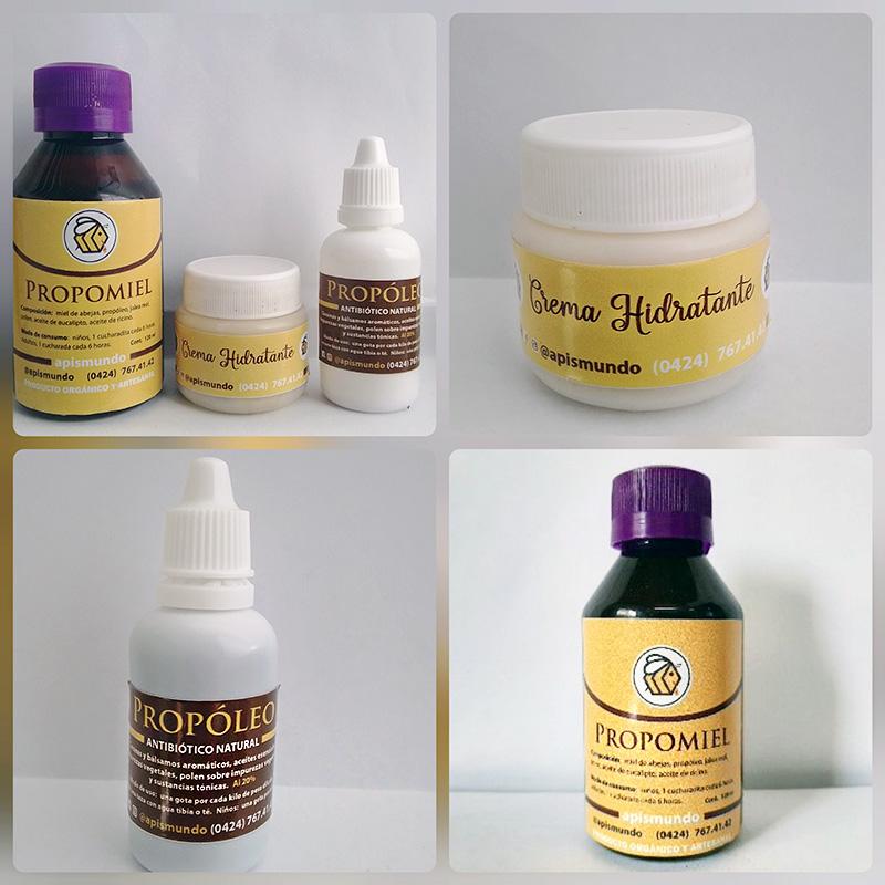 3Pack: Propomiel Crema Hidratante y Tintura de Propóleo. Apismundo