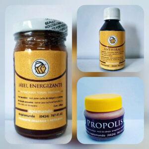 3Pack: Miel Energizante, Antiviral y Crema Propolis. Apismundo