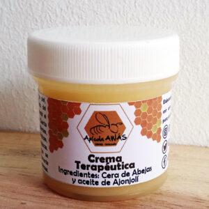 Crema terapéutica de cera de abejas y aceite de ajonjolí. Apícola Awás
